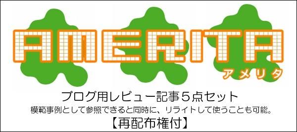 アメリタ ブログ用レビュー記事5点セット